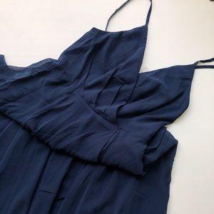 BHLDN Eva Navy Blue Bridesmaid Dress